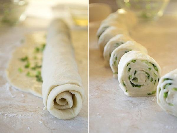 Наивкуснейшие лепешки с зеленым луком