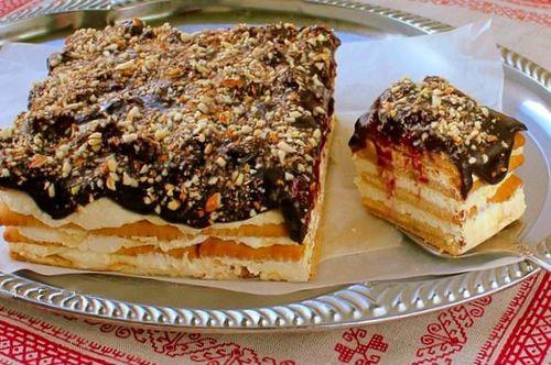 Вкуснейший десерт на основе печенья без выпечки