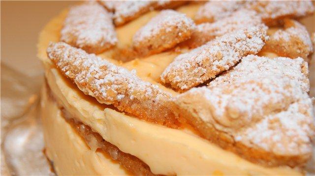 Нежный лимонно-ореховый торт