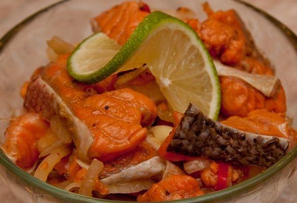 """Невероятный салат """"Хе"""" по-корейски с рыбой"""