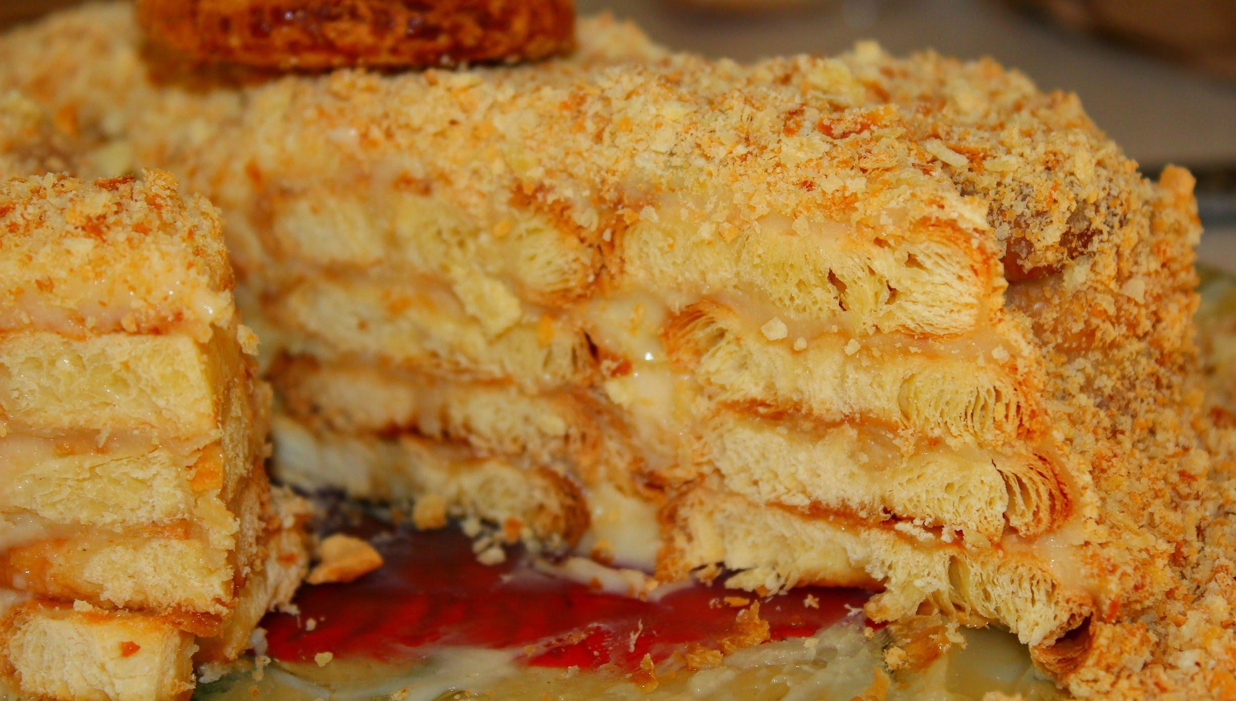"""Торт """"Ленивый Наполеон"""" на основе печенья"""