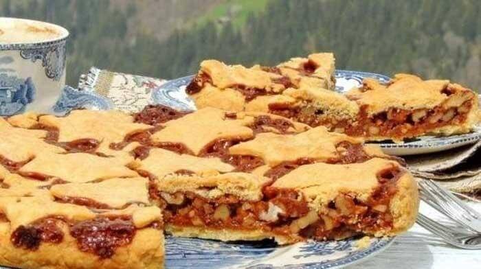 Изысканный швейцарский ореховый пирог