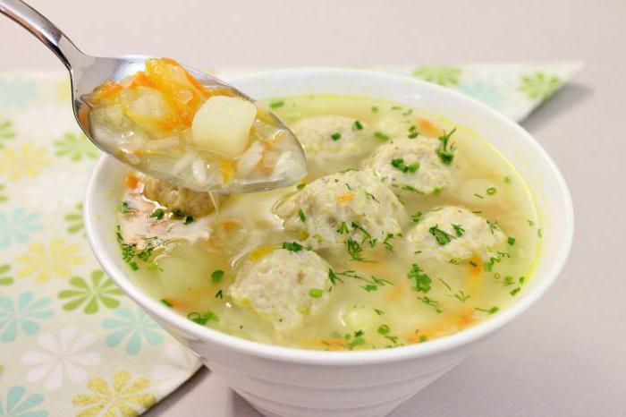 Суп картофельный с фрикадельками как в садике (для детей)