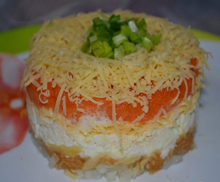Легкий салат из Франции