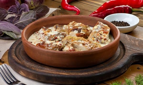 """Вкуснейшее Грузинское блюдо из курицы """"Чкмерули"""""""