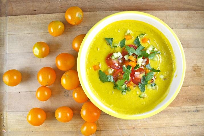 Оригинальный суп: желтый гаспачо