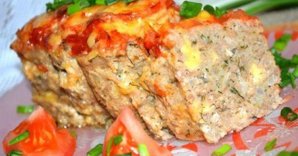 Аппетитный мясной хлебец с сыром