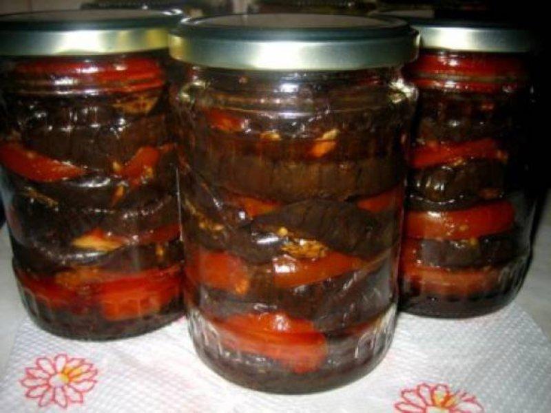Салат с баклажанов в зиму