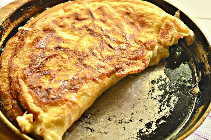 Изысканный бризоль с сыром и сосисками