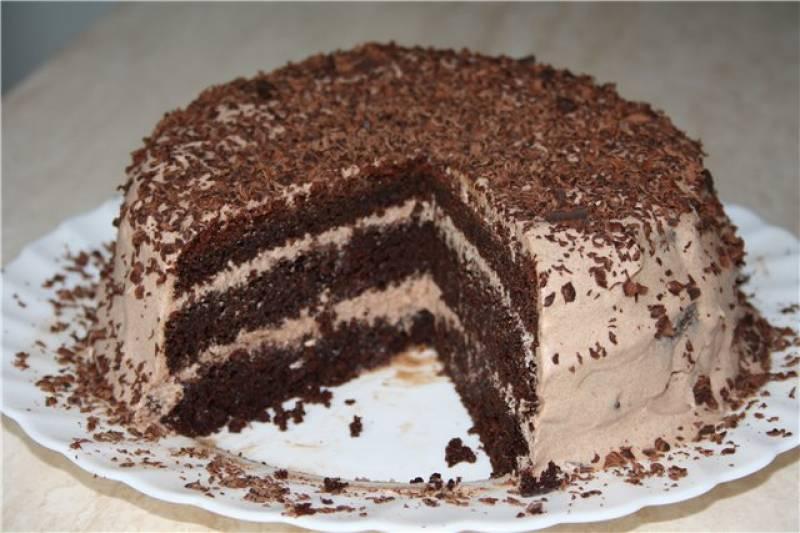 Шикарный шоколадный торт