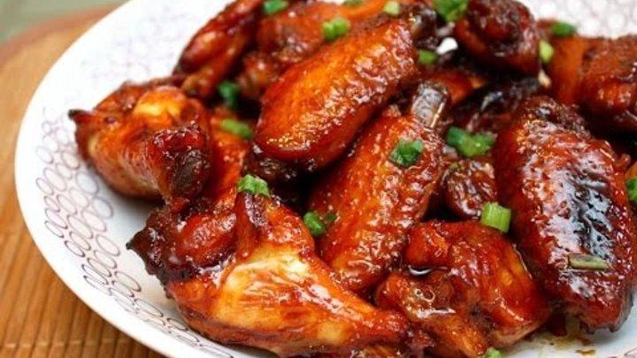 Аппетитные крылышки, маринованные в соево-медовом соусе