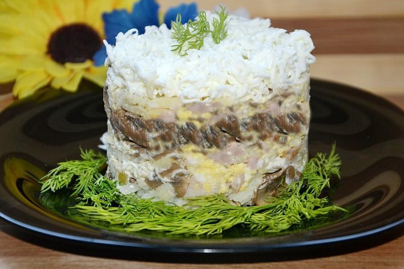Воздушный салат «Невеста»