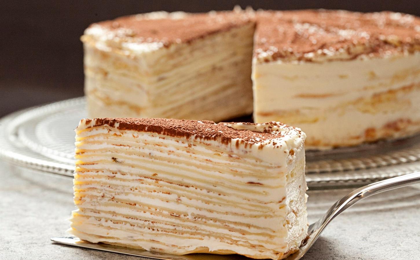 """Изысканный блинный торт """"Крепвиль"""""""