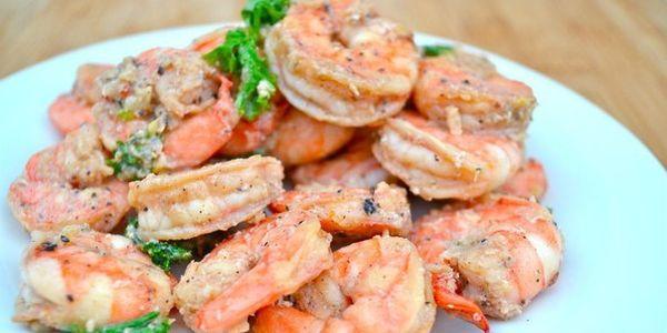 Изумительные креветки в сливочно-чесночном соусе
