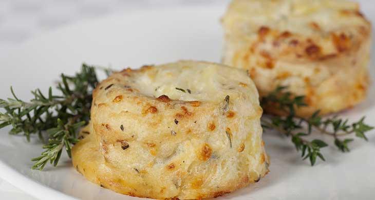 Изысканное картофельное суфле с сыром