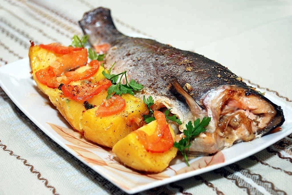 Нежный фаршированный лосось