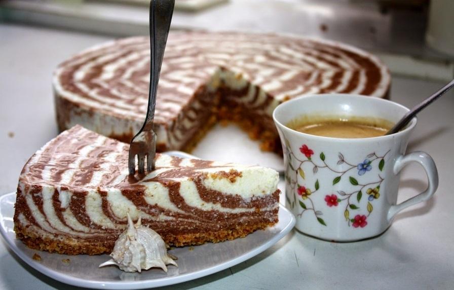 Изысканный торт «Зебра»