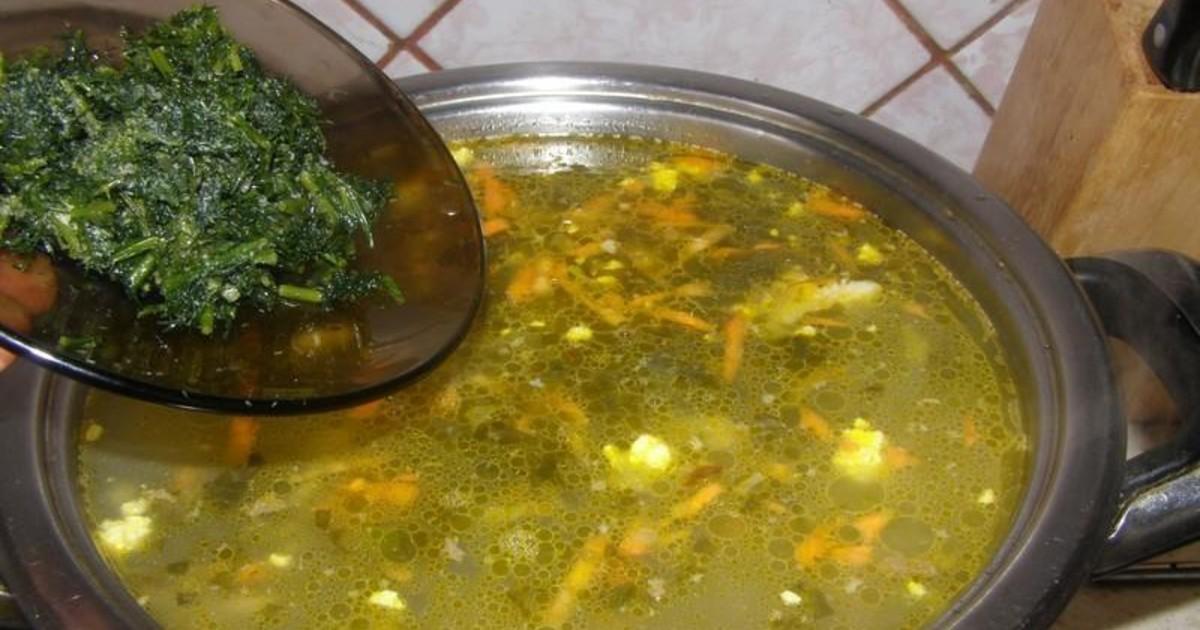 Витаминный зеленый борщ