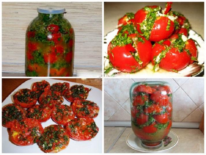 Остренькая закуска: помидоры по-корейски на зиму