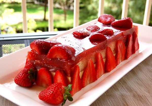 Сказочный клубничный десерт