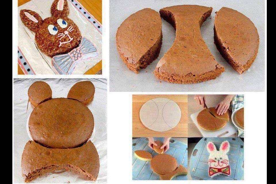 Детский бисквитный торт «Зайка»