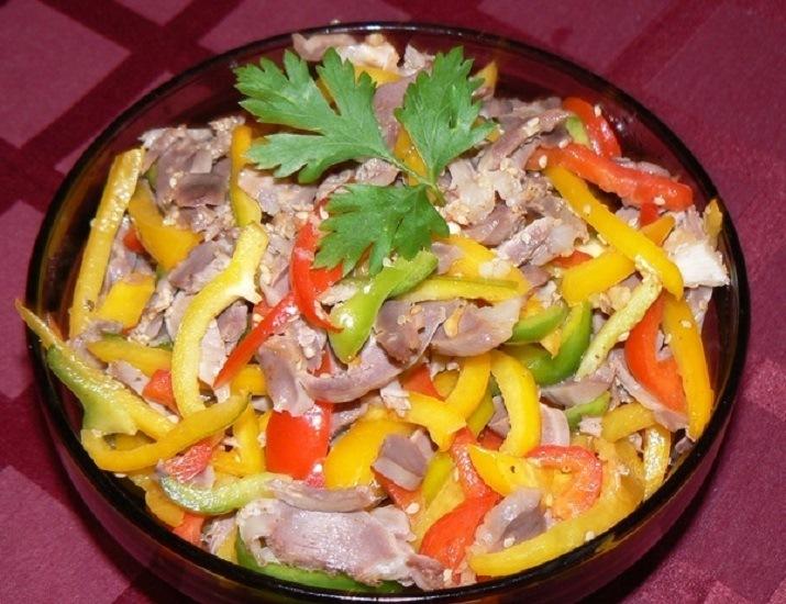 Как сделать салат с желудками 442
