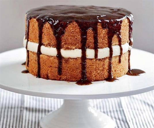 """Нежный торт """"Капучино"""" с творожным кремом"""