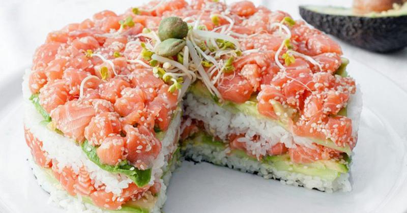 Экзотический торт-суши