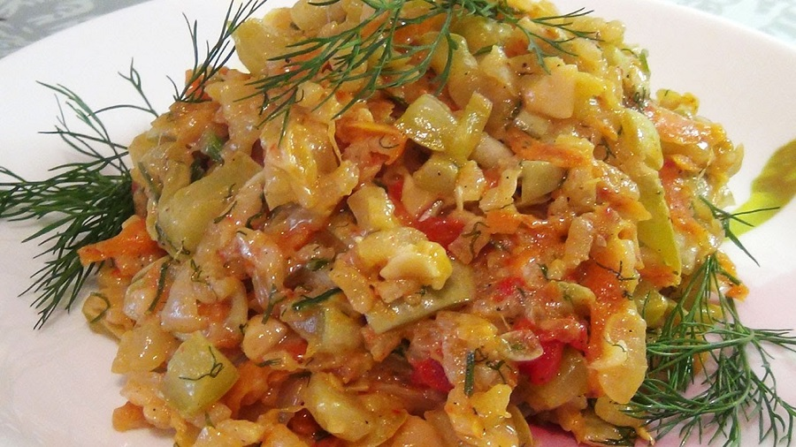 Нежнейшие тушеные кабачки с овощами