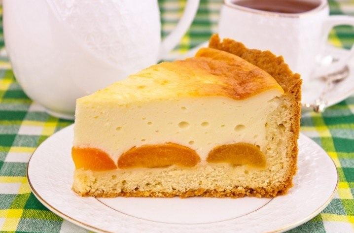 Супер вкусный творожный пирог с абрикосами и белым шоколадом
