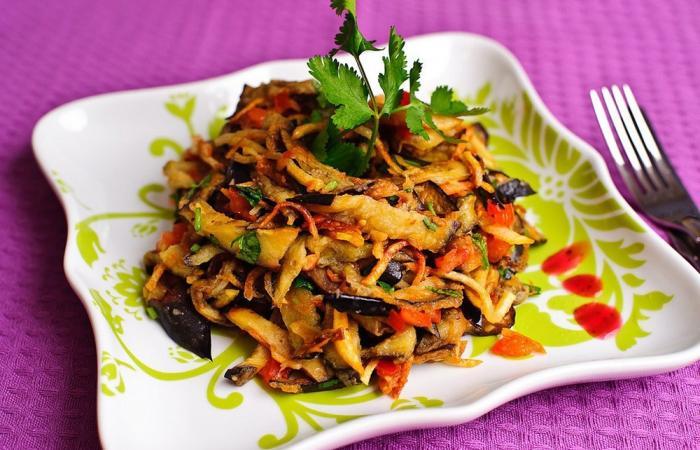 Рецепт салатов из баклажана с фото