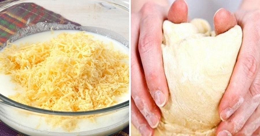Необычное тесто из твердого сыра и кефира