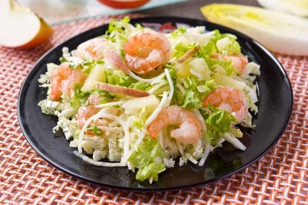 Салат из креветок и пекинской капусты рецепт 144