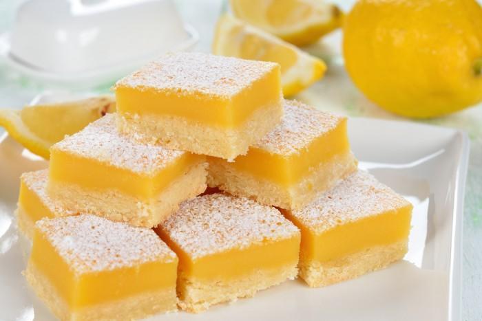 Вкусное пирожное «Лимонные дольки»