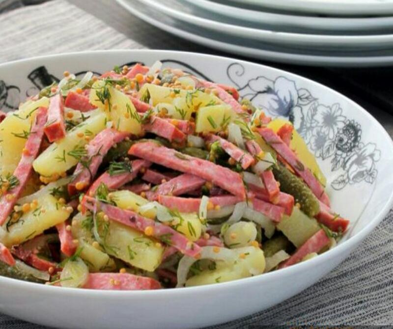 Потрясающий немецкий картофельный салат