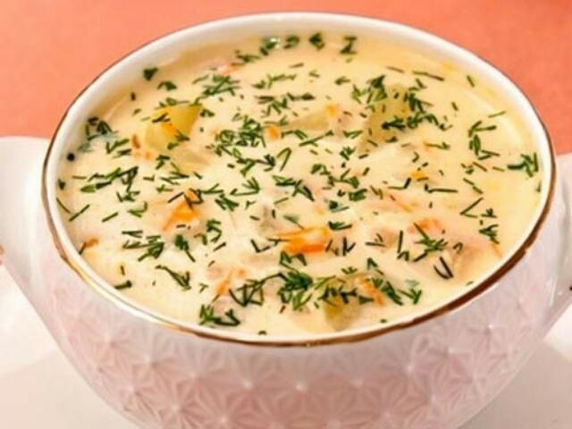 Потрясающий суп из плавленого сыра с курицей
