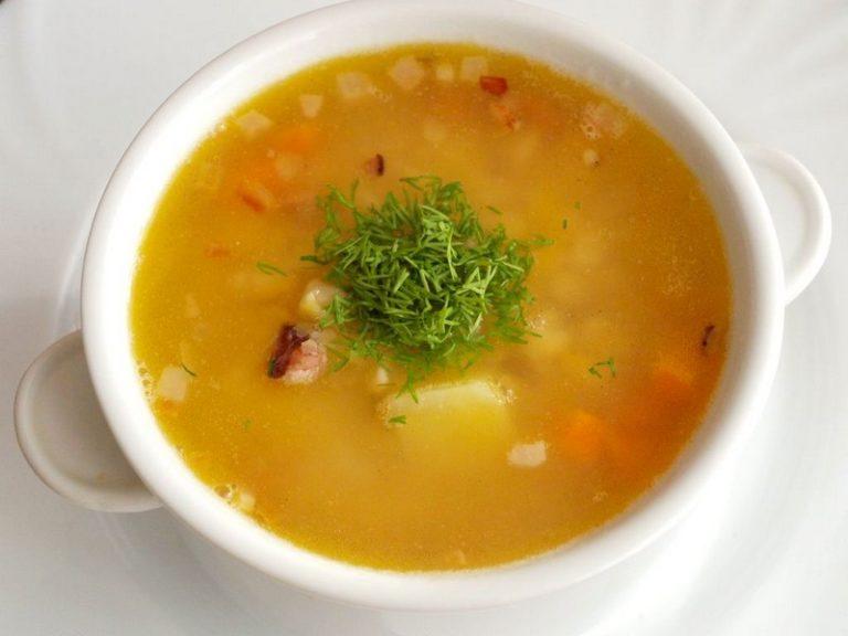 Быстрый обед-суп гороховый в мультиварке