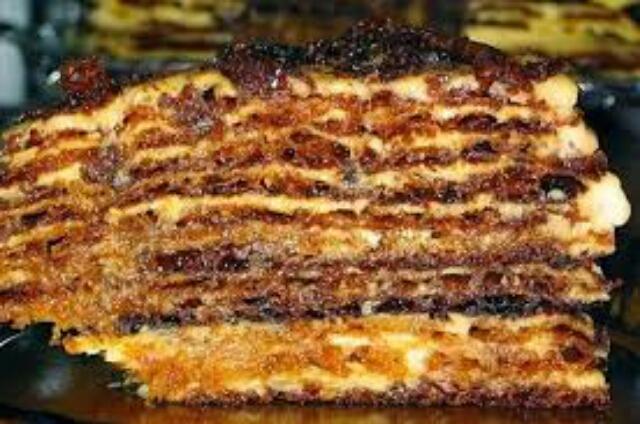 """Вкусный заварной тортик """"Мадонна"""""""