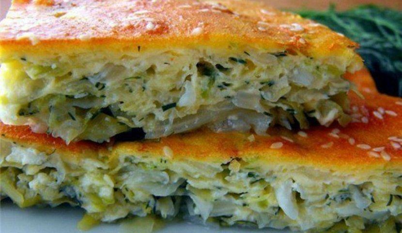 Ленивый пирог с капустой – вкуснейшее блюдо