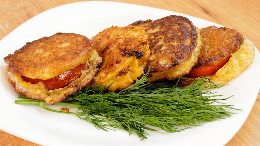 Обалденные помидоры в сырном кляре