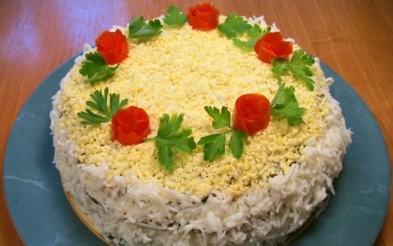 Нежный печеночный салатик