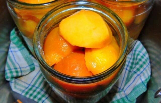 Вкуснейшие персики в собственном соку на зиму