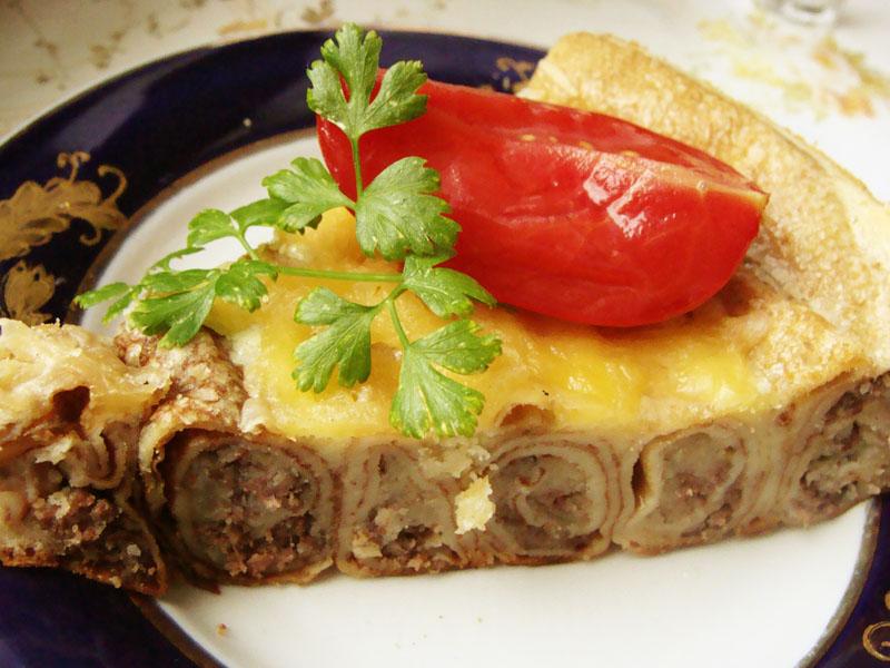 Торты из блинов с мясом рецепты