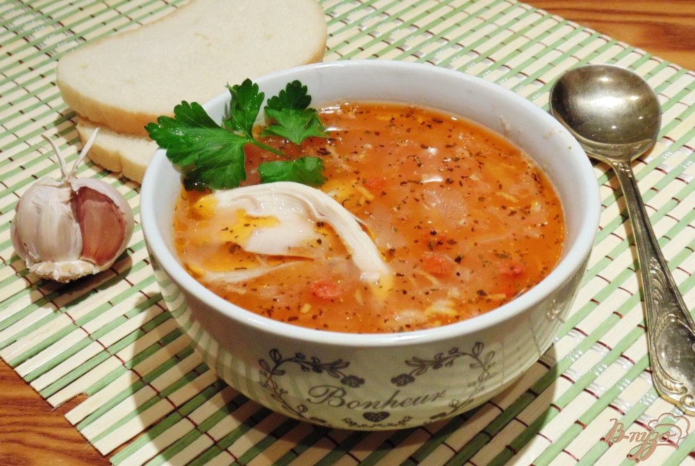 Обед для всей семьи- суп «Харчо» с курицей