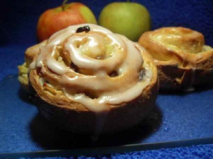 Очень вкусные творожные улитки с яблоками и корицей