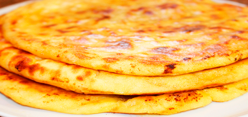 Божественно вкусные сырные лепешки с начинкой