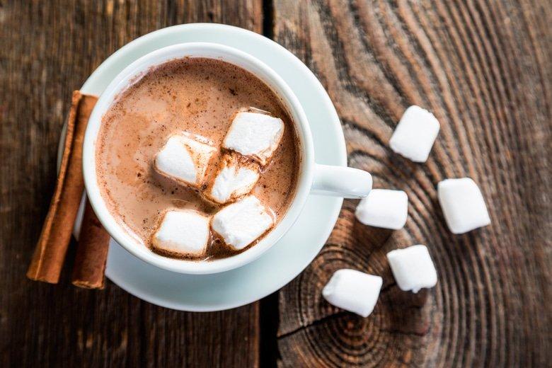 Согревающий напиток-горячий шоколад с медом и корицей