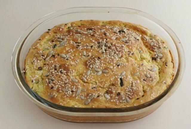 Божественный заливной пирог с капустой на сметане