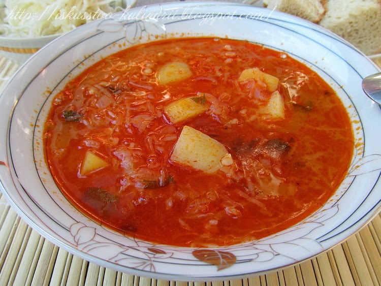 Восхитительный суп по-румынски с томатом