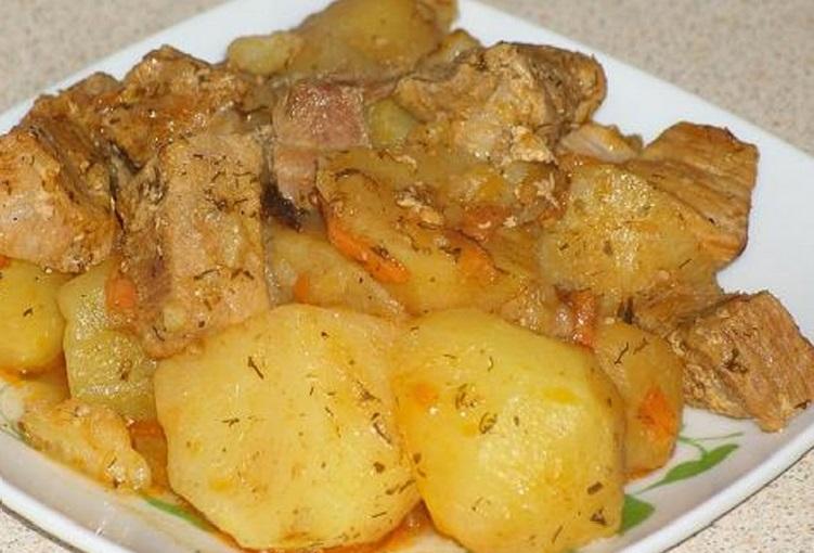 Рецепты картошка с мясом в мультиварке рецепты с фото
